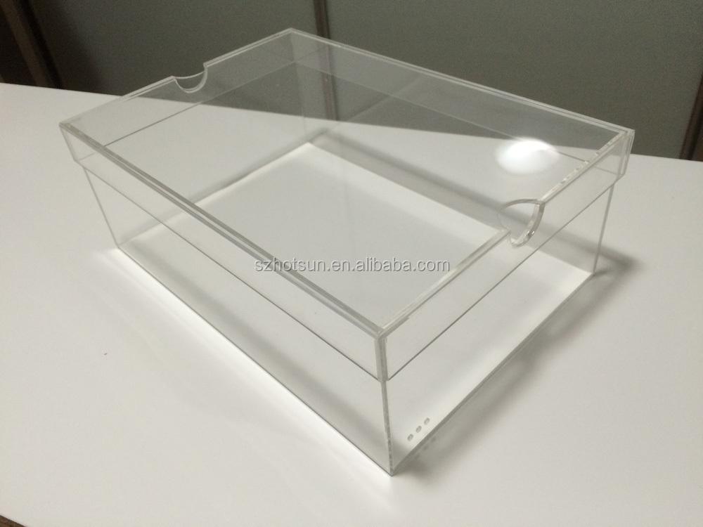 Acrylic Boxes Custom Made : Custom made clear acrylic shoe box buy