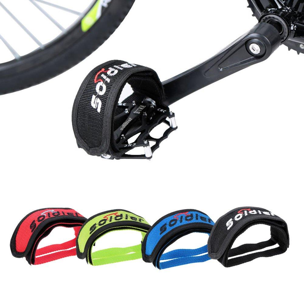 PyLios(TM) 2015 New Arrival Fixed Gear Fixie Bike Bicycle Double Adhesive Nylon Clip Pedal Toe Strap Belt Anti-Slip