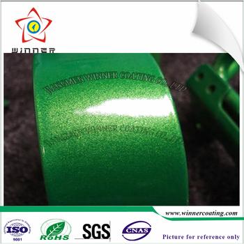 High Gloss Green Metal Metallic Effect Bonding Powder Coating Paint Two Coat