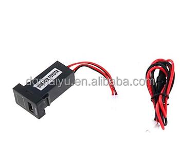 car 12v 2 1a usb port socket voltage display for toyota buy car 12v 2 1a usb port socket voltage display for toyota