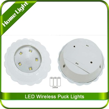 puck lights with remote buy 6 pk led wireless light puck lights. Black Bedroom Furniture Sets. Home Design Ideas