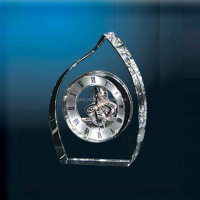 Wholesale office gift set newly- designed waterford crystal table clock for office decoration