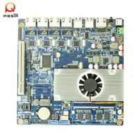 High stability oem mainboard with 4* RJ45 lan network card/onboard cpu Intel Atom D2550/multi Lan SBC board for Network Security