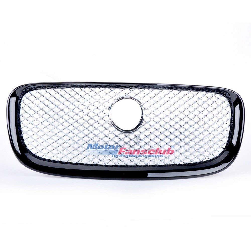 Chrome Mesh Upper Grill Front Grille For Jaguar XF XFR 2012-2015 with Black Frame