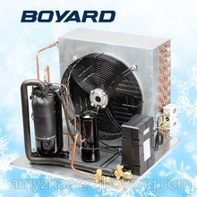 marine refrigeration unit for condensing with mini refrigerator compressors