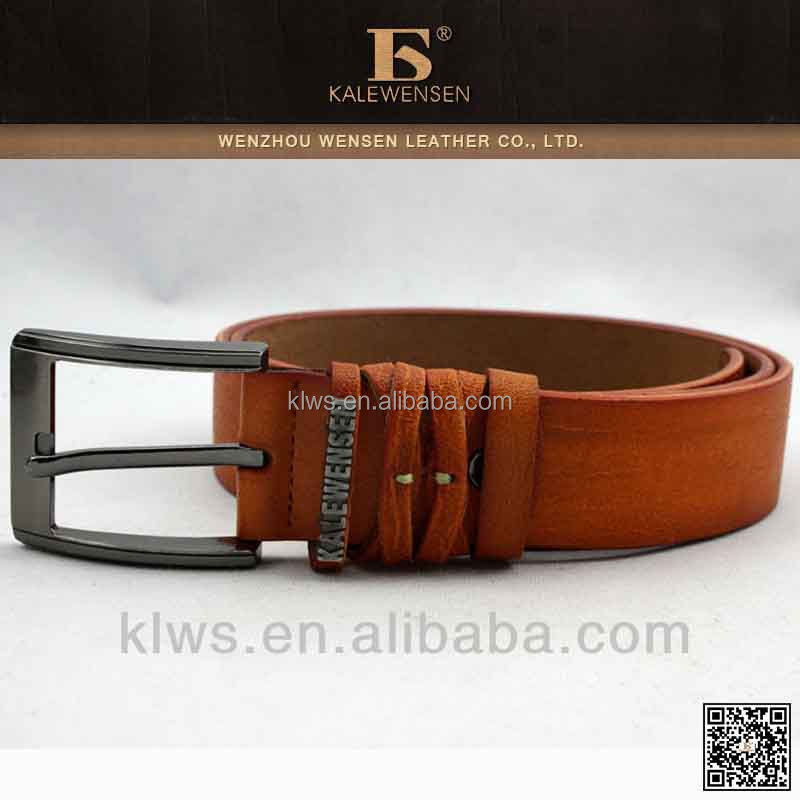 Top quality 100% cowhide original black genuine mens leather belts for men