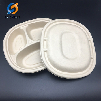 biodegradable wheat straw 3 compartment plate with lid buy paper