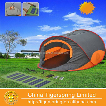 Orange Solar Tent With Detachable Solar Panel View Orange