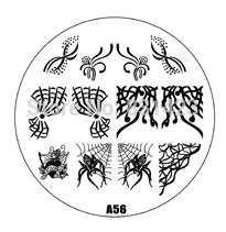 2015 new A Series A56 Nail Art Polish DIY Stamping Plates Image Templates Nail Stamp Stencil