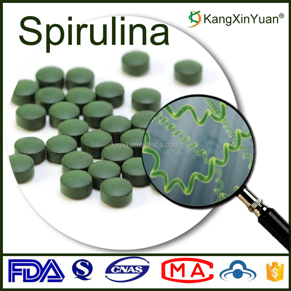 Private Label Spirulina Extract Powder Tablet Cholesterol Lowering
