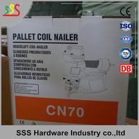 Heavy duty professional air pallet coil nailer/nail gun CN80