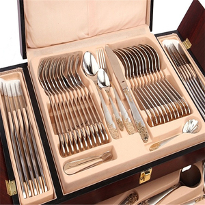 Dubai Wholesale Western Luxury Cutlery Sets Dinnerware