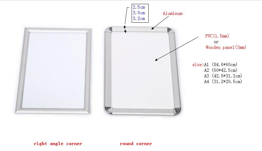 Standard poster size frame