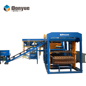 concrete block interlocking paver brick machine with mold/cement paving stone mould/hydraform machine for sale qt10-15
