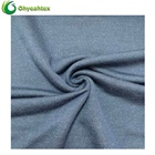 Soft R/T Spandex French Terry Indigo Knitted Denim Fabric for Sweatshirts