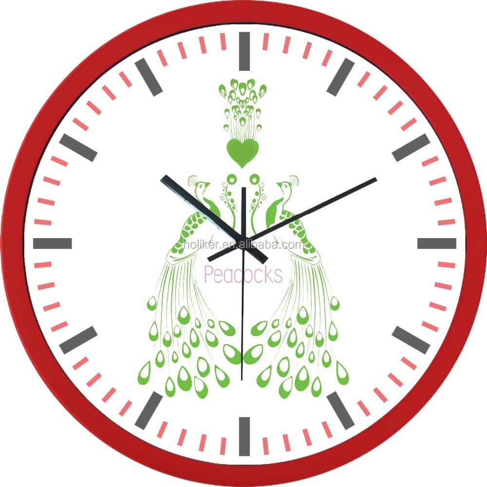 peacock wall clock peacock wall clock suppliers and manufacturers rh alibaba com Blank Clock Clip Art Blank Clock Clip Art