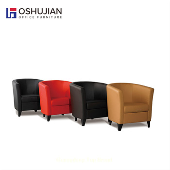 Colorful Leather Sofa Waiting Chair For Salon Office Furniture