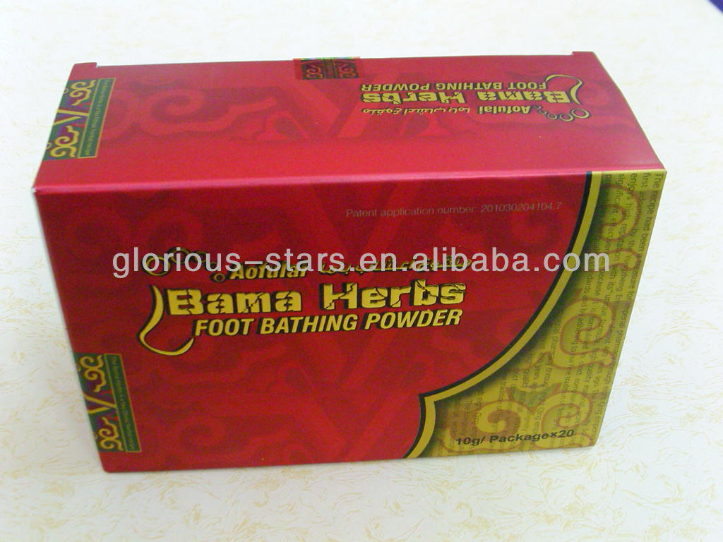 ORIGINAL Bama Herbs Foot Powder in shenzhen Engish and Arabic language user manual bama foot bath powder English package 2013