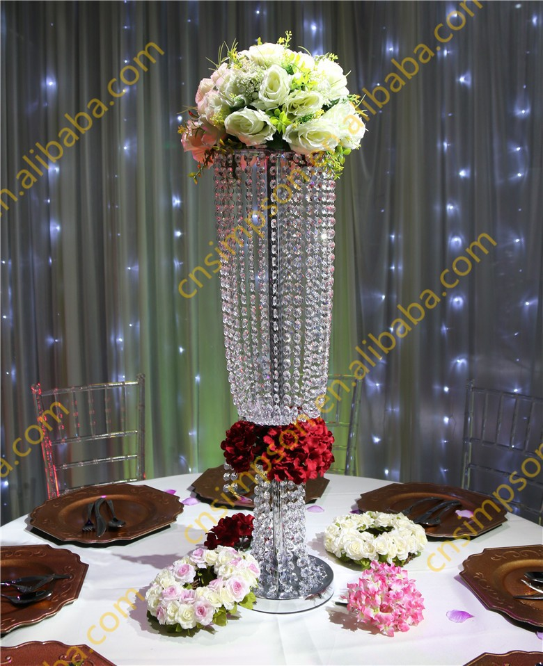 80cm Tall Crystal Chandelier Flower Stand For Wedding Decoration Bead Decor Latest On Alibaba