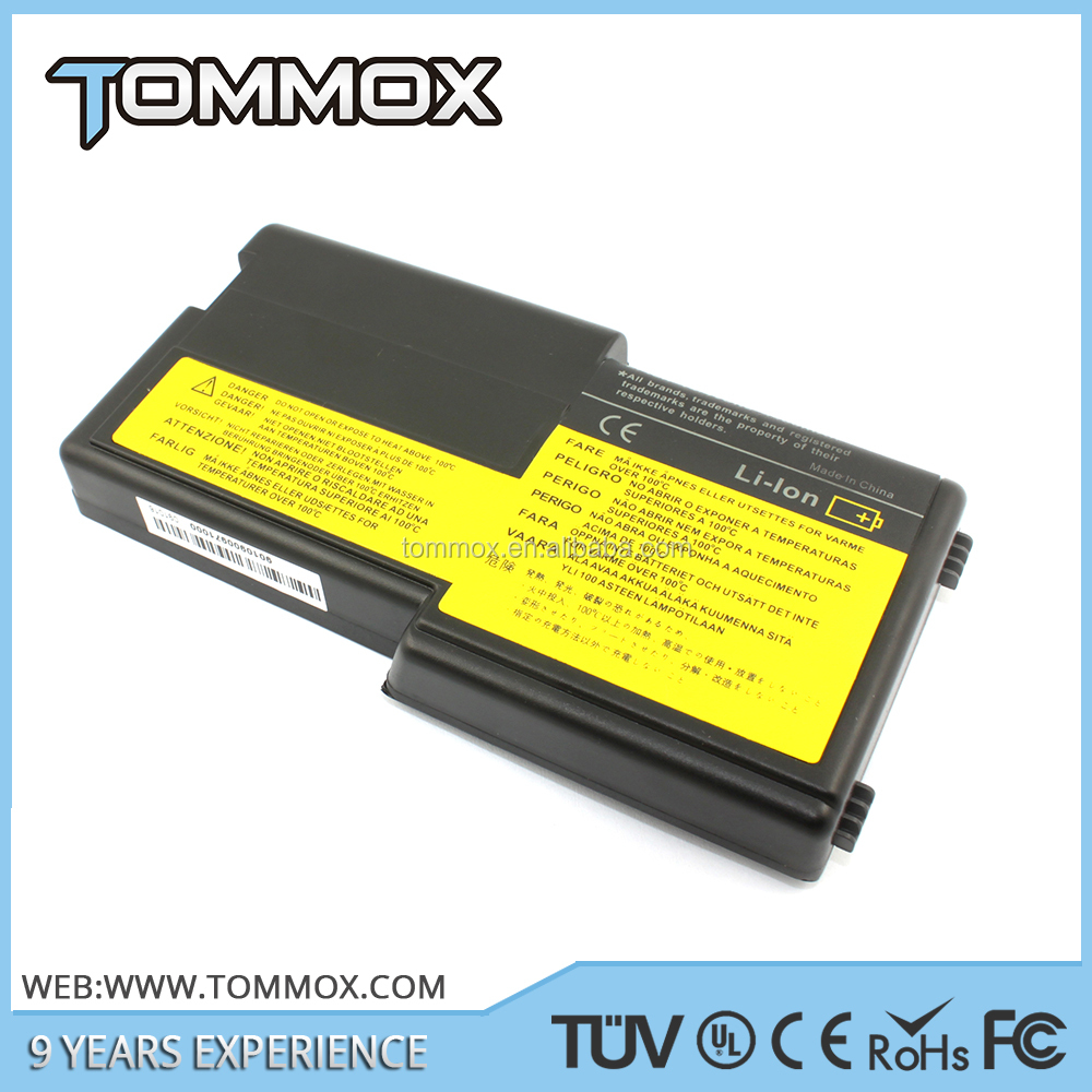 Tommox brand 100% Compatible Replacement Laptop battery pack for IBM Lenovo Thinkpad t20