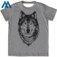 Slim Customized Running Dry Fit Print Mini Pictures For Animal Wolf Custom 3d All Over Sublimation T-shirt Printing In China