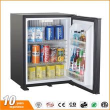 Space saving solid door noiseless absorption refrigerator with LED light