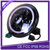 "Promotion Car Accessiories Angel Eye 45W 7"" Round LED Head Lamp With Halo Rings For Jeep"