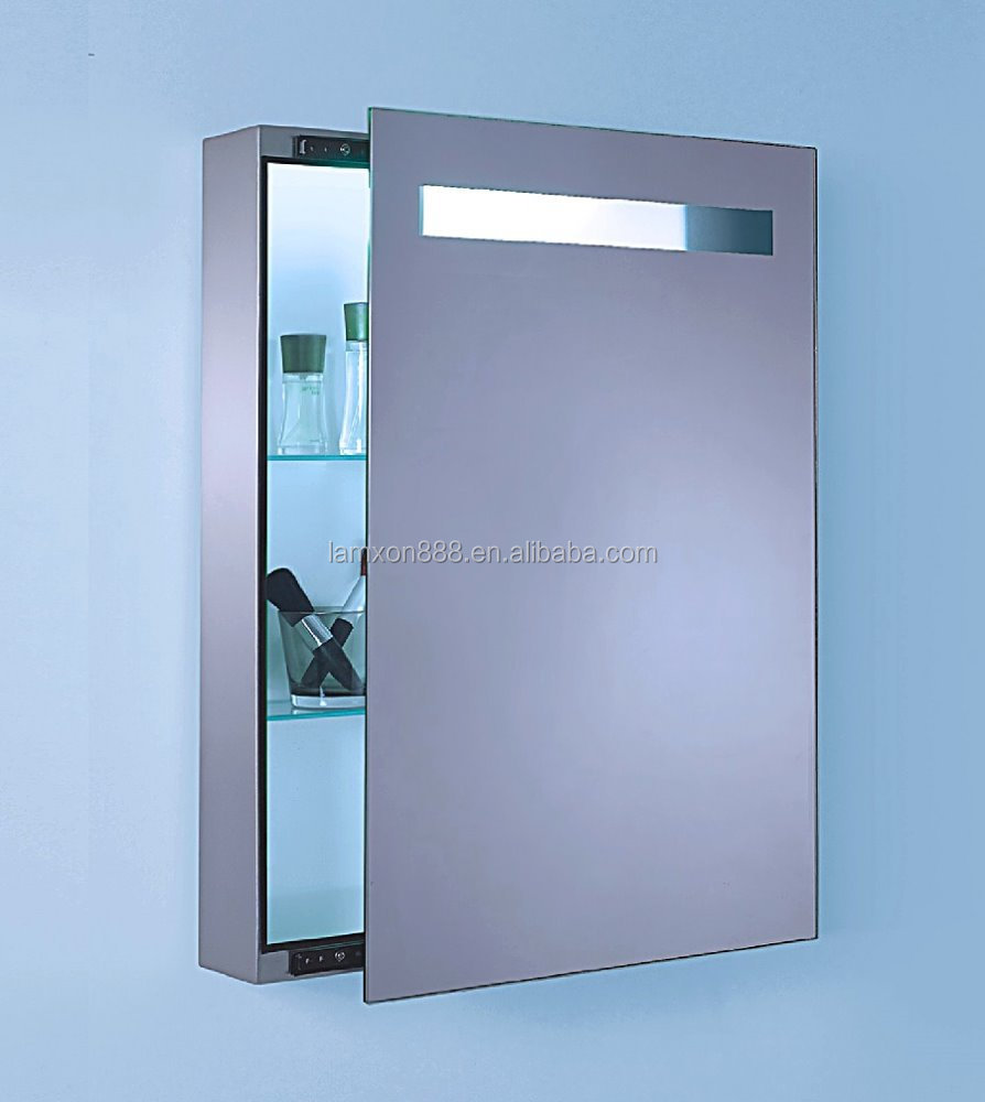 Illuminated light mirror vanity cabinet,Sliding door mirror cabinet for bathroom