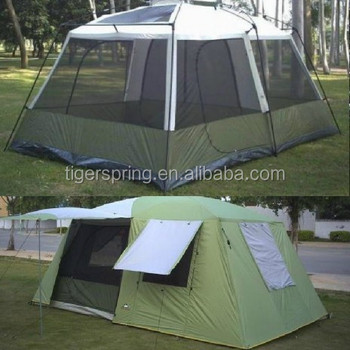 large c&ing tent for 8-10 person tent with three rooms & Large Camping Tent For 8-10 Person Tent With Three Rooms - Buy ...