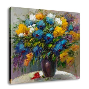 Factory Wholesale Low Price Printed Canvas Wall Art Vintage Decor Flower Oil Painting