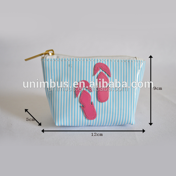 hot sale ladies pvc elegant cosmetic bag/simple toilet pouch