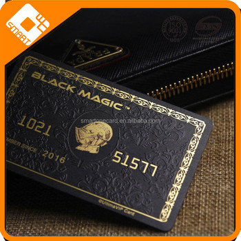 excellent credit card size CR80 plastic american express black card