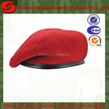 cheap military beret different fashion types of hats and caps made of 100%  wool 343af070dac