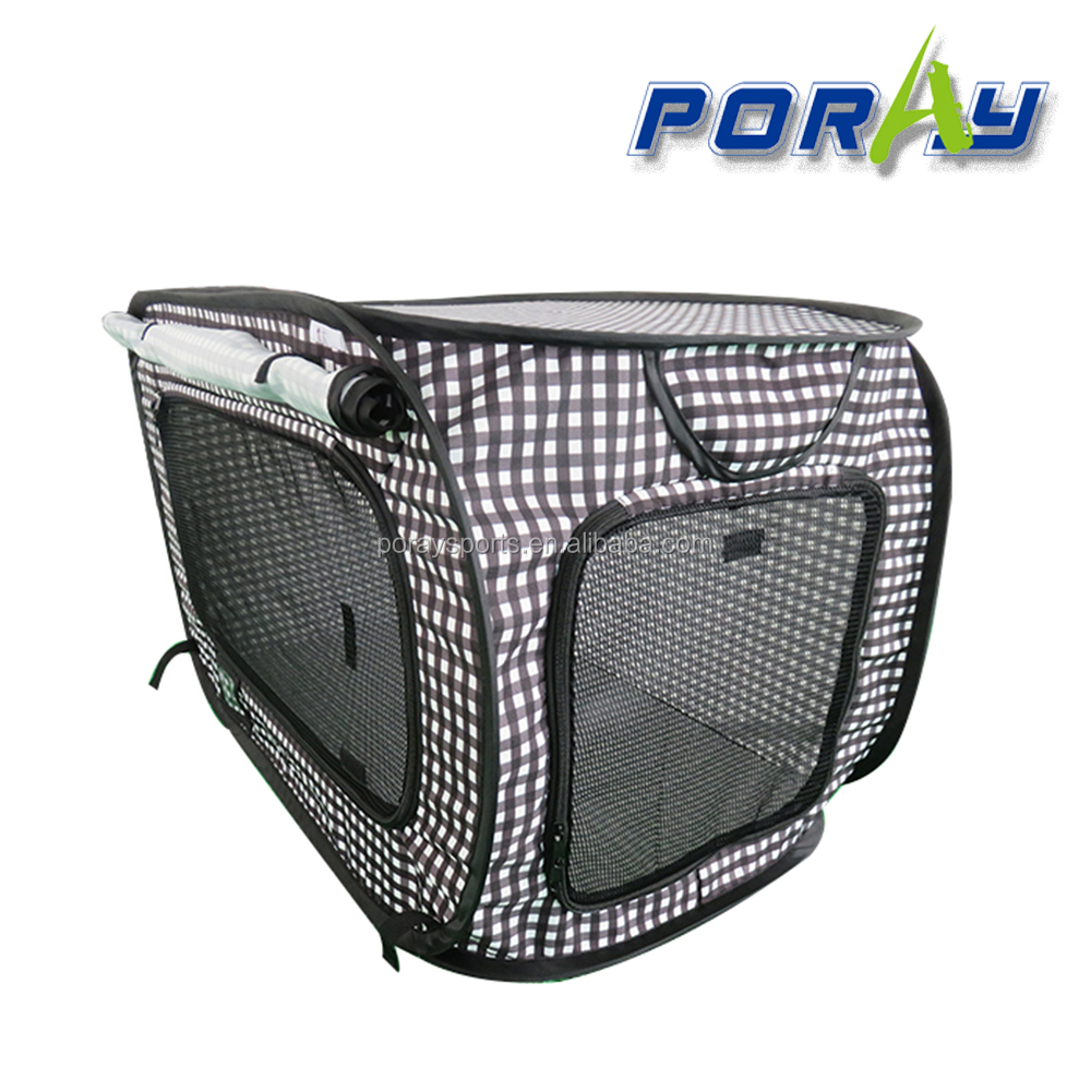 Poray dog & cat cage pop up pet tent with mat and little box for cat and dog