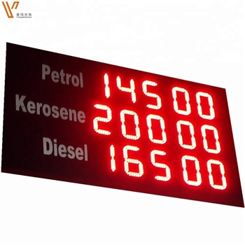 Gas Station 12inch 8888 Sign Display/ Outdoor 4 Digits Gas Price Led Signs/  Led Numbers Display Boards - Buy Led Gas Price Display,Outdoor