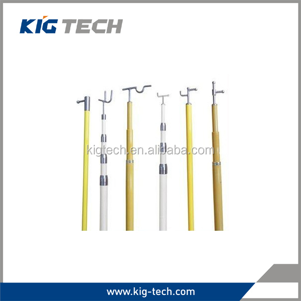 Fiberglass electrical hot stick for high voltage