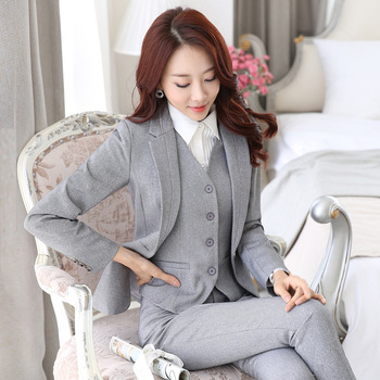 Juqian Brand Best Price Women 2-pieces Formal Business Suits Pants ...