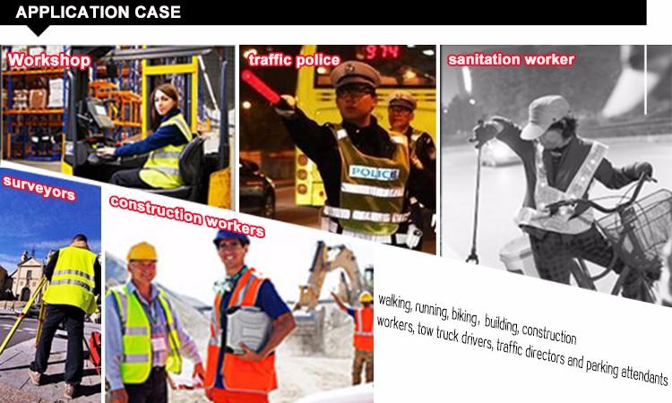 manufacturer wholesale hi viz reflective safety vest with led light