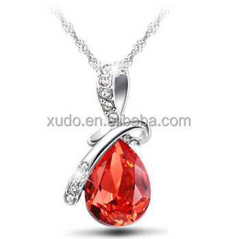 free shipping necklace jewelries crystal angel pendant necklace 6 colors available