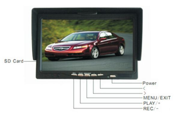 "7""monitor portable handheld Under Vehicle Search camera,Car Security Checking"