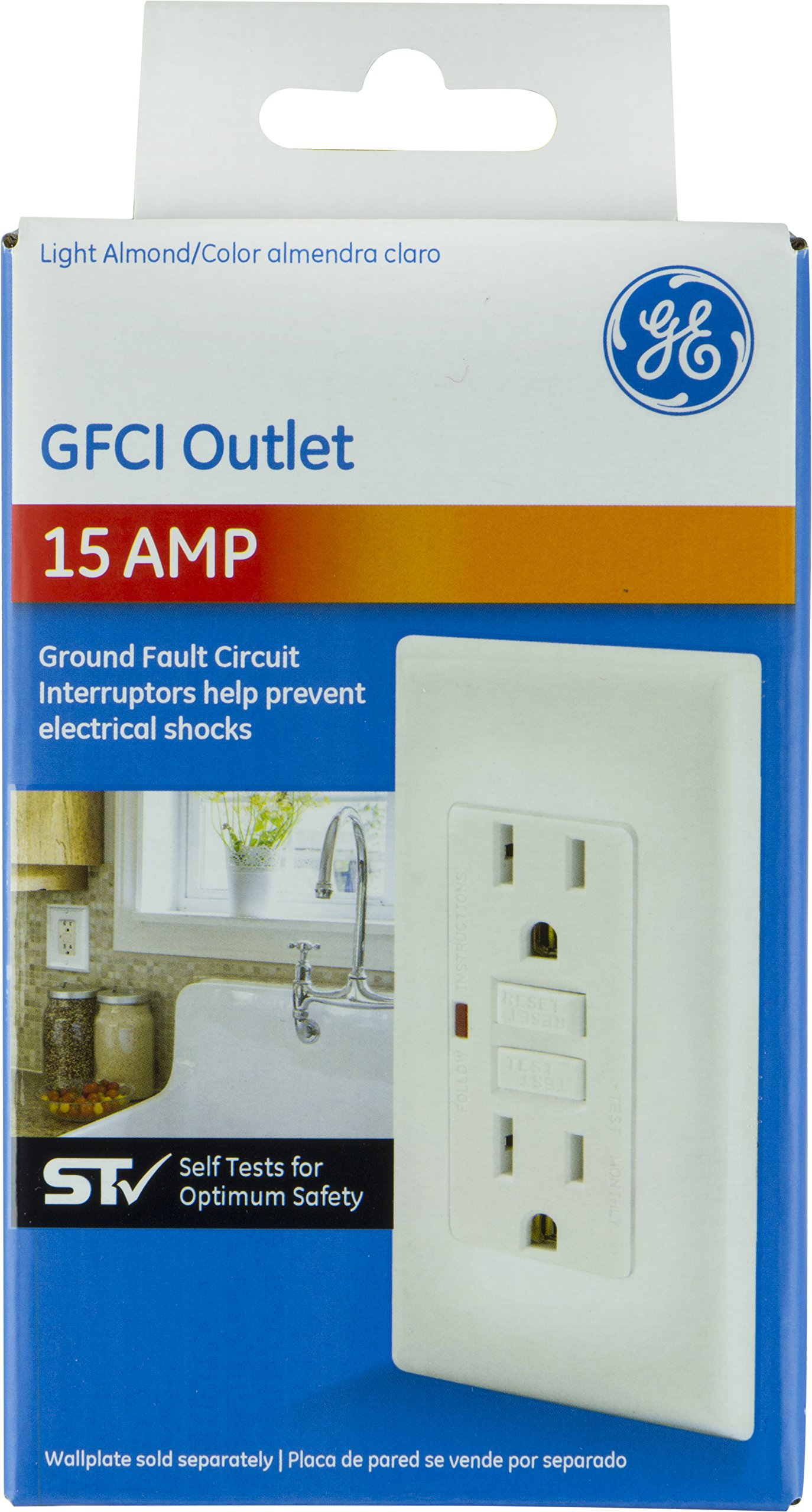 Cheap Gfci Outlet Test Find Deals On Line At How To Ground Fault Circuit Interrupter Get Quotations Ge 32074 15a Self Light Almond