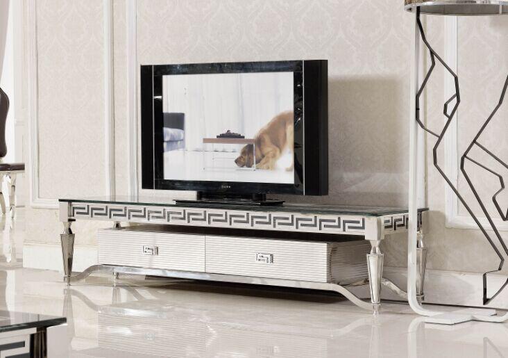 E375 Hot Sale Modern Led Tv Stand Design Corner Tv Table Glass Tv
