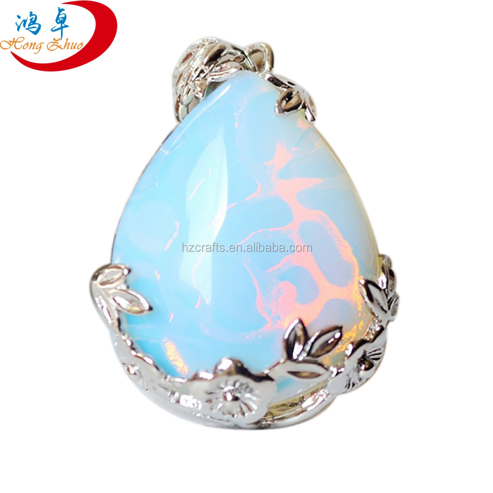Fashion jewelry 2017 opal gemstone price pendant 925 sterling silver necklace jewelry