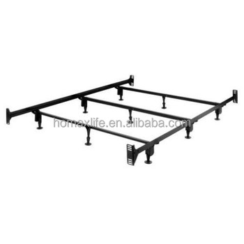 Modern Twin Full Queen Strong Support Adjust Metal Bed Frame With