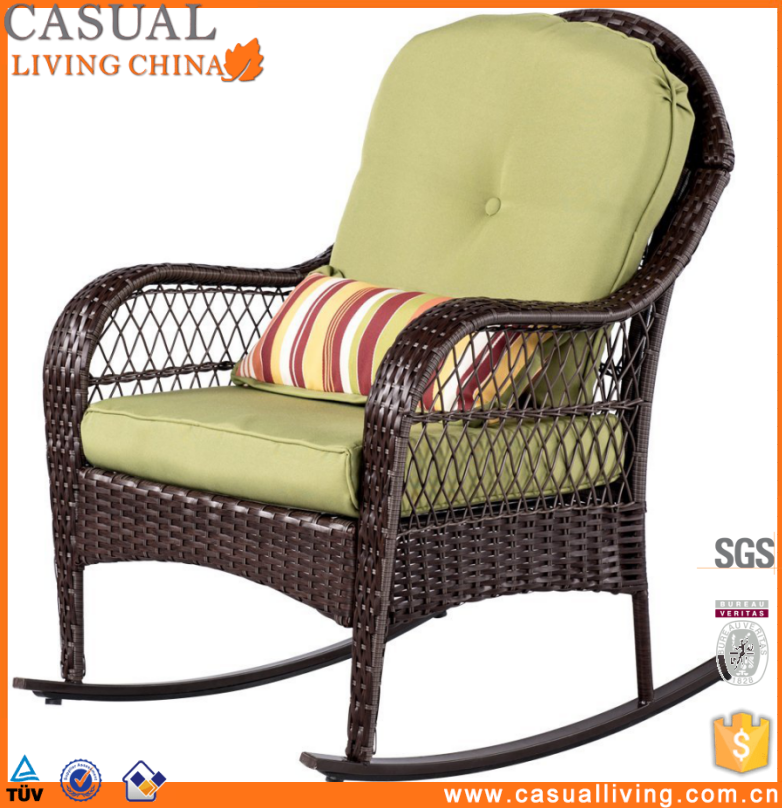 Outdoor Rattan /Wicker recliner Sofa Swing Chair Leisure Rocking Chair