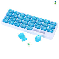 New Pill Organizer 31 Days Monthly Plastic Pill Box With Pill Cutter