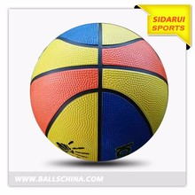 Cheap promotional good quality custom printed kids toys rubber basketball