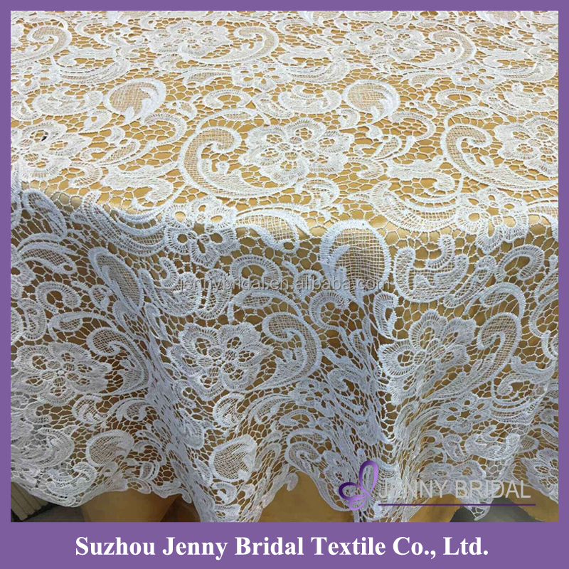 TL035A new thick lace pattern table overlays banquet wedding white tablecloth