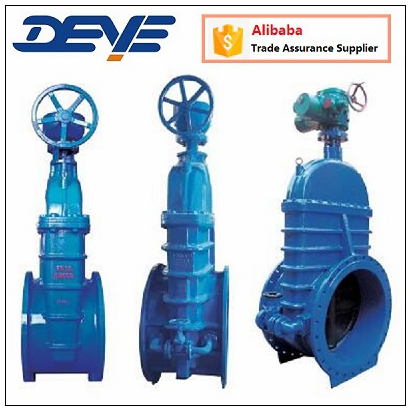 Ductile Iron By Pass Gate Valve With Gear Wheel or Motor Operated Oil Gas Water