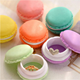 2018 Hot Selling Colorful Mini Pill Case Container Macaron Shape Storage Boxes Candy Jewelry Organizer